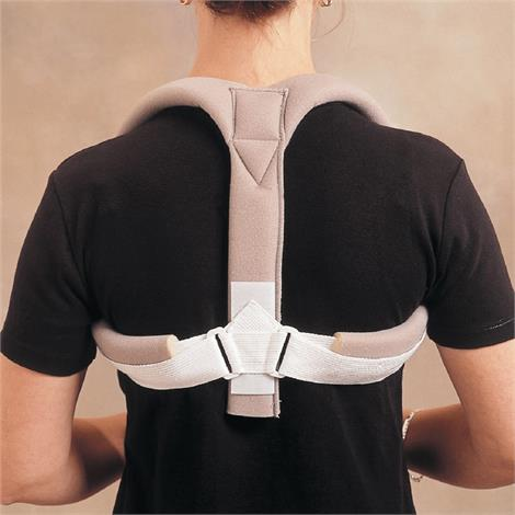 Rolyan Clavicle Posture Support,One Size Fits Most Adults,Each,A5493