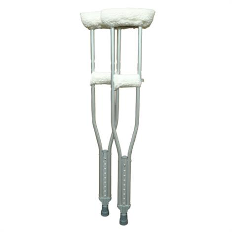 Complete Medical Soft N Plush Comfort Crutch Fleece Covers Set,Crutch Cover Set,Pair,BJ210160