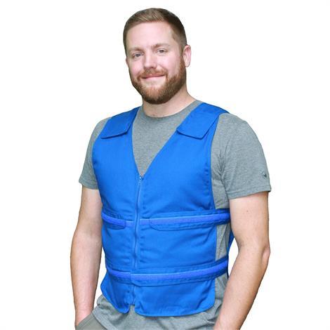 Polar Cool58 Phase Change Adjustable Zipper Cooling Vest,Blue,Large/X-Large,With Four 400g Cooling Packs,Each,PCVZ 400