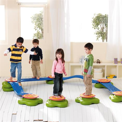 Weplay Water Lily Balance Beam Set,Balance Beam Set (6-Piece),Each,KM2012-006 GPCKM2012-006
