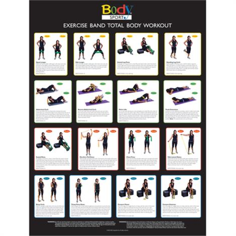 Resistance Tube and Band Exercise Chart,Exercise Chart,Each,BDSRBW