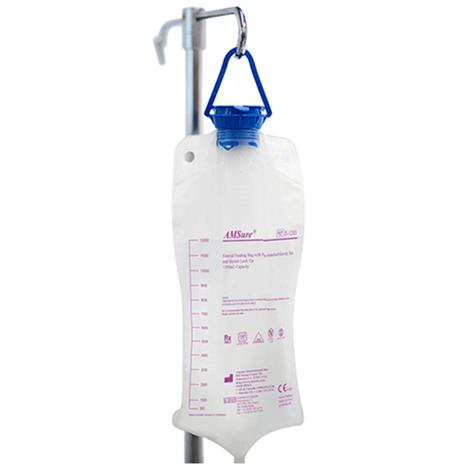 Amsino Alcor AMSure Enteral Feeding Bag With Pre-Attached Pump Set And Magnet,500ml Bag,For Prefilled Containers,30/Pack,E-0500M
