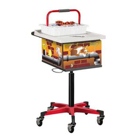 Clinton Pediatric Series Alley Cats and Dogs Phlebotomy Cart,0,Each,67237