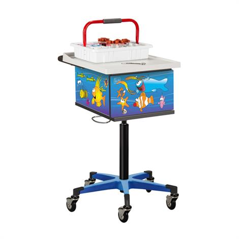 Clinton Pediatric Series Ocean Commotion Phlebotomy Cart,0,Each,67236