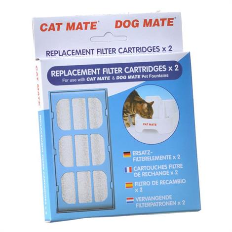 Cat Mate Replacement Filter Cartridge for Fountain,6 Count,Each,389