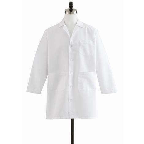 Medline Men Staff Length White Lab Coat,Size 32,Each,M12WHT32E