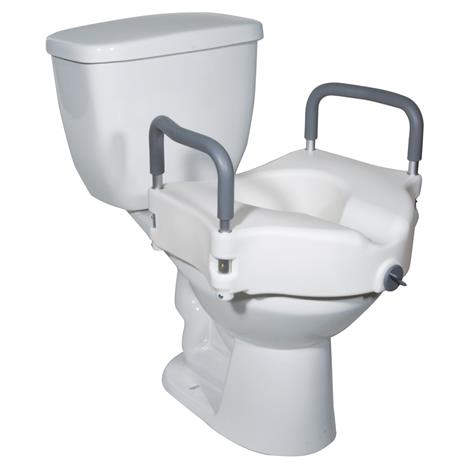 Drive Two In One Locking Elevated Toilet Seat,With Removable Arms,Each,RTL12027RA