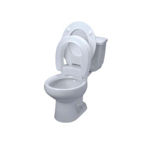 Maddak Hinged Elevated Toilet Seat,Elongated,Each,F725711005