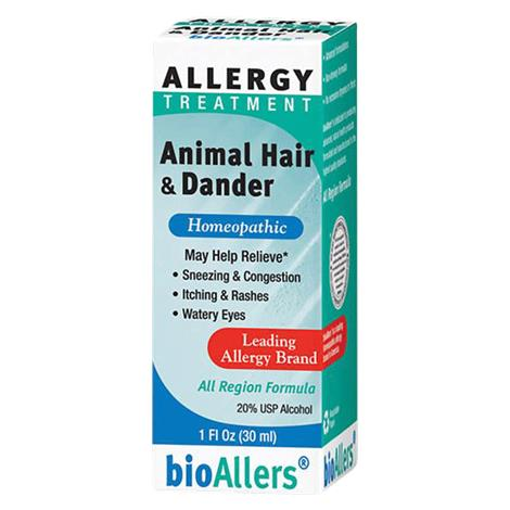 Bio-Allers Animal Hair And Dander Allergy Treatment,1 Oz,Each,82183