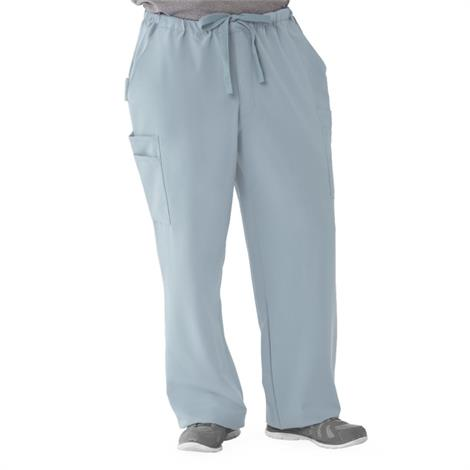 Illinois Ave Mens Athletic Cargo Scrub Pants with 7 Pockets - Light Gray,2X-Large,Tall Inseam,Each,5800GRYXXLT