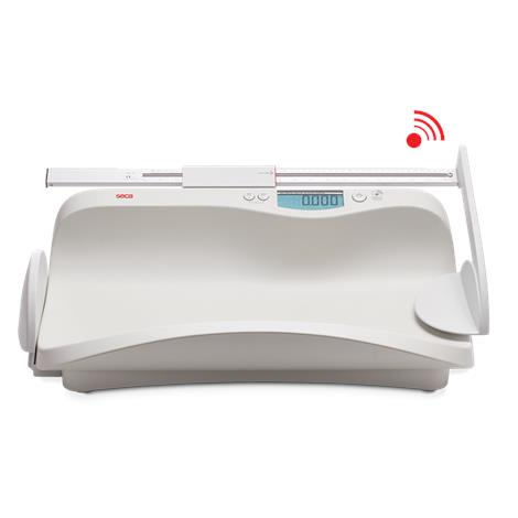 """Seca Wireless Scale With Extra Large Weighing Tray,24.4""""W x 7.5""""H x 14.1""""D (620mm x 190mm x 358mm),Each,SECA374"""