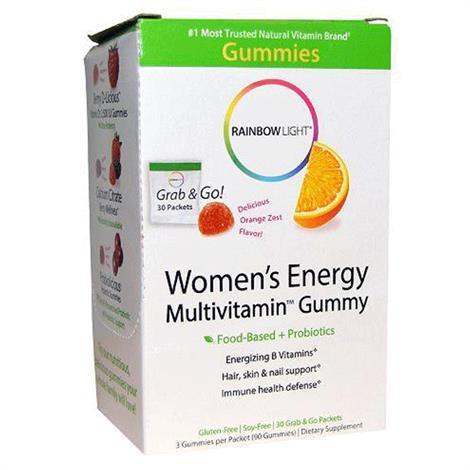 Rainbow Light Womens MultiEnergy Gummy,30 Packets,Each,1736420