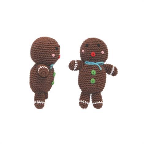 Mirage Holiday Knit Knacks Ginger The Man Organic Cotton Small Dog Toy,Ginger The Man Dog Toy,Each,500-009