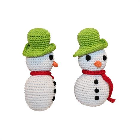 Mirage Holiday Knit Knack Frost The Snowman Organic Cotton Small Dog Toy,Frost The Snowman Dog Toy,Each,500-008