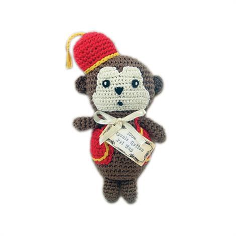 Mirage Knit Knack Fez Monkey Organic Cotton Small Dog Toy,Fez Monkey Dog Toy,Each,500-013