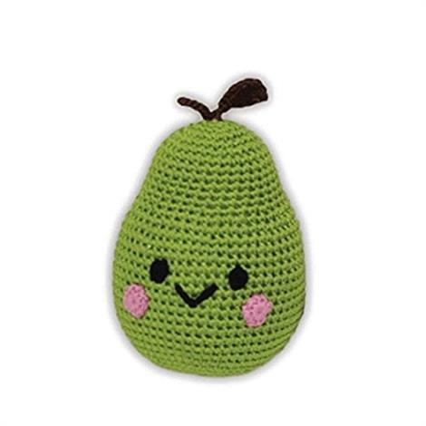 Mirage Knit Knacks Bartlett Pear Organic Cotton Small Dog Toy,Bartlett Pear Dog Toy,Each,500-003