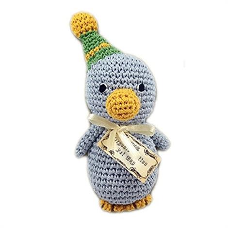 Mirage Knit Knacks Disco Duck Organic Cotton Small Dog Toy,Disco Duck Dog Toy,Each,500-006