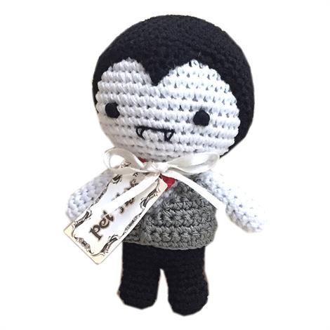 Mirage Knit Knacks Dracula Organic Cotton Small Dog Toy,Dracula Dog Toy,Each,500-111 DRA