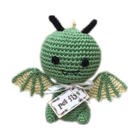 Mirage Knit Knacks Drogo the Dragon Organic Cotton Small Dog Toy,Drogo the Dragon Dog Toy,Each,500-111 DRG