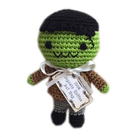 Mirage Knit Knacks Franky The Monster Organic Cotton Small Dog Toy,Franky The Monster Dog Toy,Each,500-111 FRK