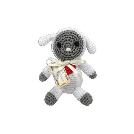 Mirage Knit Knacks Fleece the Lamb Organic Cotton Small Dog Toy,Fleece the Lamb Dog Toy,Each,500-007