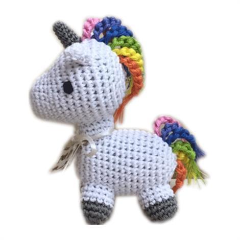 Mirage Knit Knacks Mystic the Magic Unicorn Organic Cotton Small Dog Toy,Mystic the Magic Unicorn Dog Toy,Each,500-111 UNI