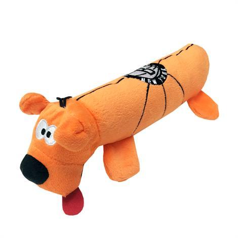 Mirage Brooklyn Nets Plush Squeaky Dog Tube Toy,Brooklyn Nets Dog Tube Toy,Each,305-12 TBT