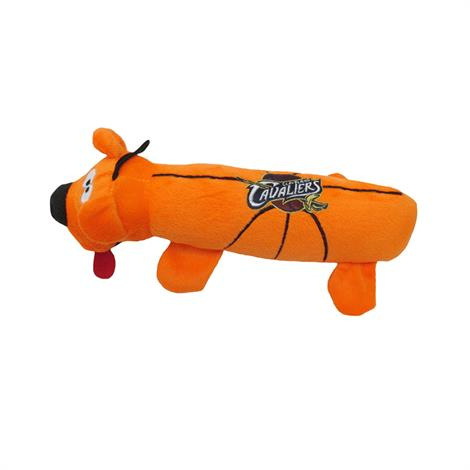 Mirage Cleveland Cavaliers Plush Squeaky Dog Tube Toy,Cleveland Cavaliers Dog Tube Toy,Each,305-10 TBT