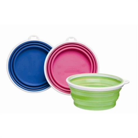 Bamboo Silicone Travel Bowl - Assorted,1-Cup Tray,Each,#810281