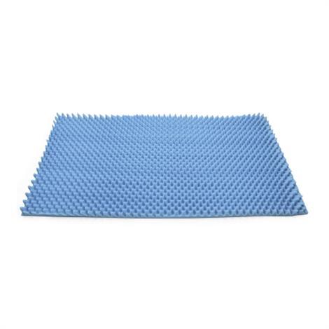 McKesson Convoluted Foam Mattress Overlay,Blue,33 X 72 X 2,Each,136-74806
