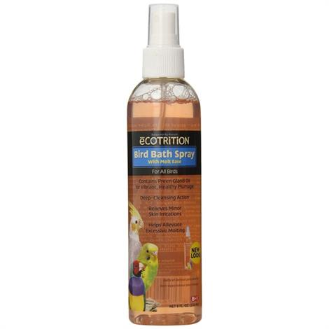 Ecotrition Bird Bath Spray with Molt Ease,8 oz,Each,D141