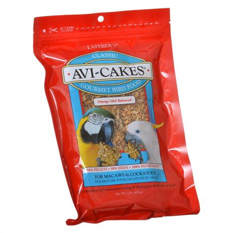 Lafeber Classic Avi-Cakes Gourmet Macaw & Cockatoo Food,16 oz,Each,86050