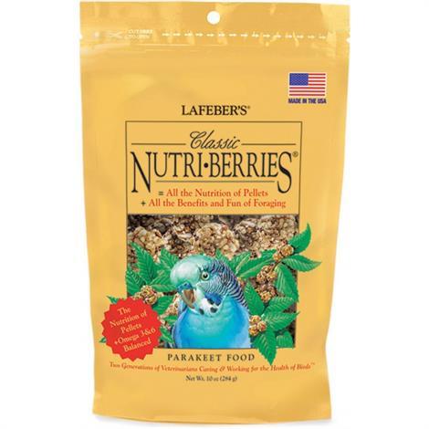 Lafeber Classic Nutri-Berries Parakeet Food,10 oz,Each,81630