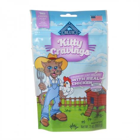 Blue Buffalo Kitty Cravings Crunchy Cat Treats - Real Chicken,2 oz,Each,12021