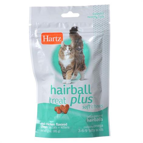 Hartz Hairball Remedy Plus Cat & Kitten Soft Chews - Savory Chicken Flavor,3 oz,Each,11137