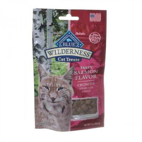 Blue Buffalo Wilderness Crunchy Cat Treats - Tasty Salmon Flavor,2 oz,Each,12031