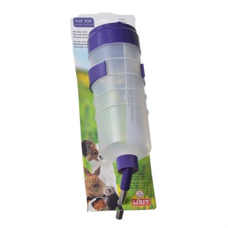 Lixit Quick Lock Flip Top Water Bottle with Valve,32 oz,Each,30-0351-018 QLFT32