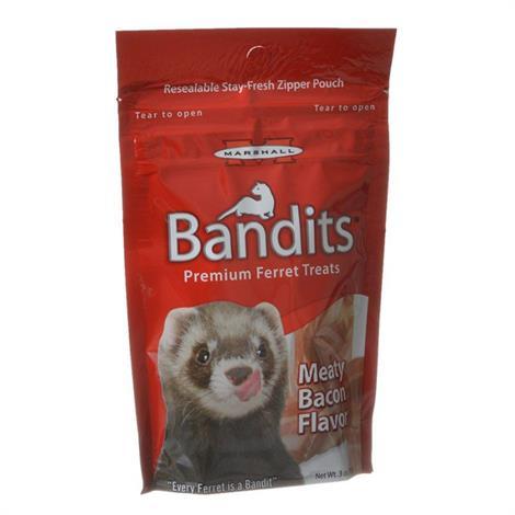 Marshall Bandits Premium Ferret Treats - Bacon Flavor,3 oz,Each,FD382