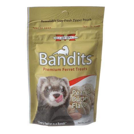 Marshall Bandits Premium Ferret Treats - Peanut Butter Flavor,3 oz,Each,FD386