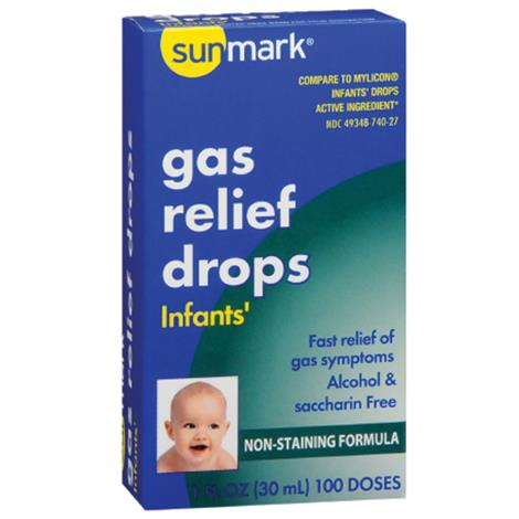 Mckesson Sunmark Gas Relief Strength Oral Drops,20mg / 0.3mL Strength,Each,2083624