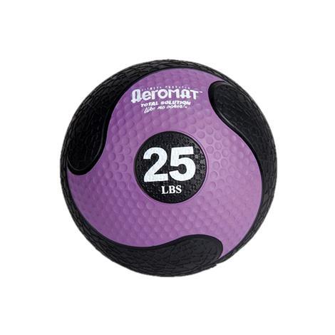"Aeromat Elite Deluxe Low Bounce Medicine Ball,10lb,9"" Diameter,Black/Blue,Each,35864"