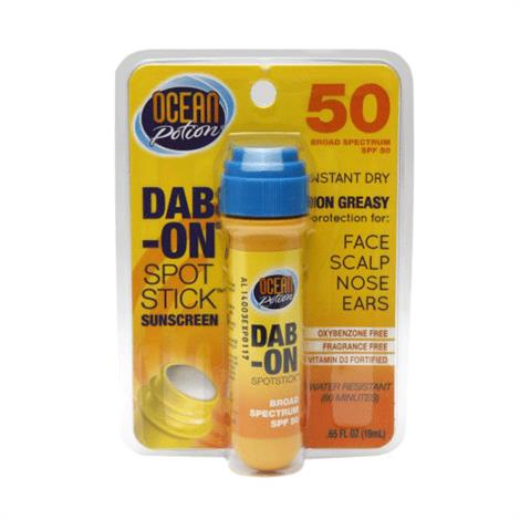 Ocean Potion Sunscreen Dab-On Spotstick With SPF 50,0.65oz Spotstick,Each,00580-755-DM12