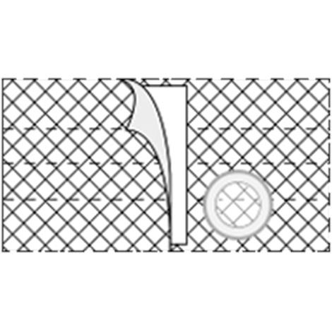 Nu-Hope Nu-Form 7 Inches Left Sided Cool Comfort Elastic Ostomy Support Belt,0,Each,0