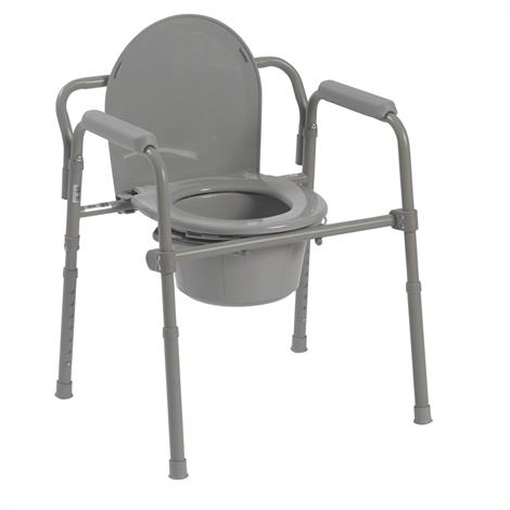 "Drive Competitive Edge Line Folding Bariatric Steel Commode,Seat Dimensions: 13.5""W x 15""D,Each,11148-1"