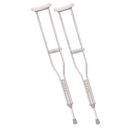 Drive Aluminum Crutches,Adult,Pair,RTL10400