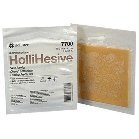 "Hollister HolliHesive Standard Skin Barrier,4"" x 4"",(10cm x 10cm),5/Pack,7700"
