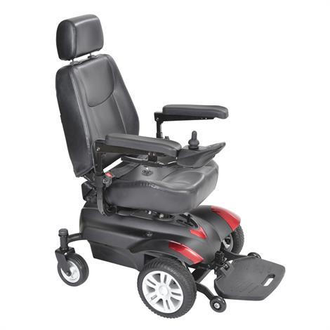 """Drive Titan X23 Front Wheel Standard Power Wheelchair,18"""" x 16"""" Captain Seat,Full Back,Each,TITAN1816X23"""