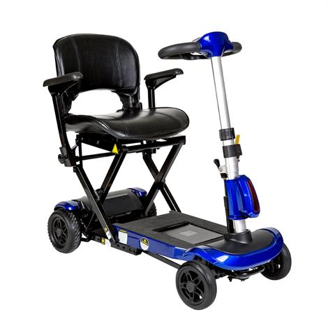 """Drive ZooMe Auto-Flex Folding Travel Scooter,Electric Blue,With 16"""" Folding Seat,Each,FLEX-AUTO"""