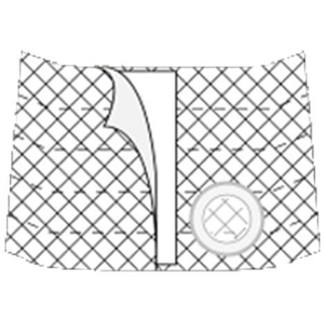 Nu-Hope Nu-Form 9 Inches Left Sided Cool Comfort Elastic Ostomy Support Belt,0,Each,0