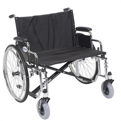 """Drive Sentra EC Heavy Duty Extra Wide Wheelchair,28"""" Sentra EC Heavy-Duty,Extra,Extra,Wide,Detachable Desk Arm,Each,STD28ECDDA"""